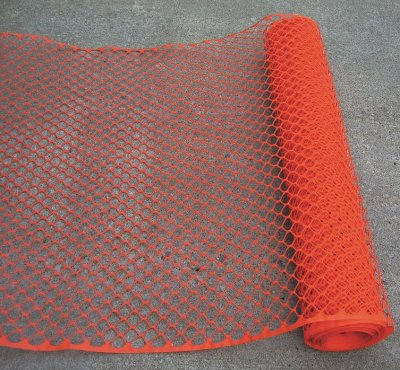 Temporary Plastic Fencing 4'x50' - Orange - Click Image to Close